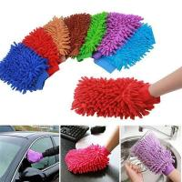 Wholesale Microfiber Super Mitt / Glove, Double Sided, Purple from china suppliers
