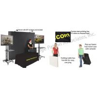 Buy cheap Trade Show Booth w/ Pop Up Backdrop, Spotlights, 2 TV Stands & Table with Tablecloth from wholesalers