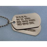 Wholesale DogTag dog tag necklace Metal dog tag/ Military dog tag/ Stainless steel dog tag from china suppliers