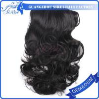 stock synthetic hair clip in hair extension, factory price invisible hair clip