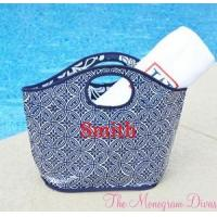Buy cheap Monogrammed Reusable Bucket Tote - Nautical Colors from wholesalers