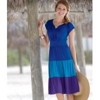 China 86732 Tiered Colorblock Knit Peasant Dress on sale