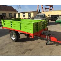 Buy cheap 2 Tons 3 Tons 5 Tons Single Axle 2 Wheel Farm Tractor Dump Trailer for Agricultural Field from wholesalers