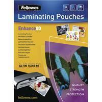 Buy cheap Fellowes A4 Self Adhesive Enhance Laminating Pouches 80 Micron (100 Pack) 53022 from wholesalers
