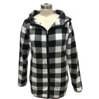 Buy cheap 100% Polyester Womens Plaid Winter Coat , Womens Bomber Jacket With Hood from wholesalers