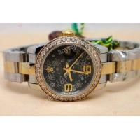 Buy cheap Fake Rolex Datejust Two Tone Black Flower 26mm Ladies Watch from wholesalers