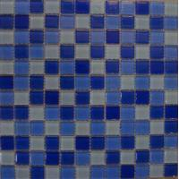 Buy cheap 4mm Mixed Crystal Glass Bathroom Mosaic Swimming Pool Mosaic from wholesalers