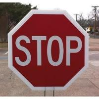 Buy cheap 15 inch Hand Held Stop Sign with 3 Legend Options from wholesalers