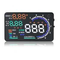 Buy cheap Universal 5.5'' A8 Car HUD Head Up Display OBD2 GPS speedometer from wholesalers