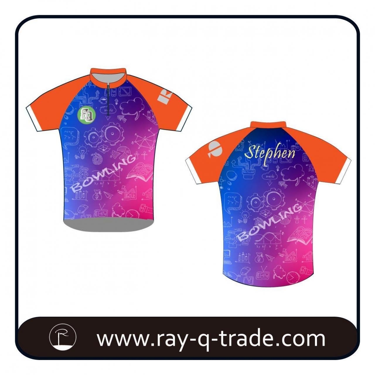 Buy cheap Bowling Custom design sublimation bowling shirts Product No.:RQBO-003 from wholesalers