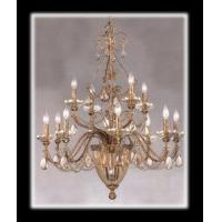 Buy cheap Chandeliers 14 Light Etruscan Gold Crystal Centerhall Chandelier Gold Leaf from wholesalers