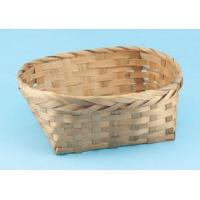 Wholesale C-102 Oval stained bamboo basket from china suppliers
