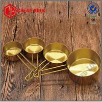 Buy cheap Golden Color Stainless Steel Measuring Cups Set of 4 from wholesalers