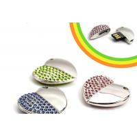 Buy cheap Crystal Hearted Shaped Jewellery Usb Flash Drive 64GB/ 128GB from wholesalers