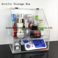 Buy cheap Online Hot Sale Clear Multilayer Box Acrylic Storage Box Plastic Cosmetic\Makeup Box from wholesalers