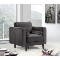 Wholesale LFDA-003 Grey Velvet Upholstered Accent Design Chair from china suppliers