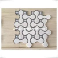 Buy cheap ES-W05 2017 Cheap price bathroom mosaic floor tile , white marble mosaic from wholesalers