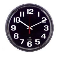 Buy cheap Clocks & Watches 12 Inch Black Face Clock from wholesalers