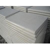 Buy cheap Tiles & Slabs FS-T0018 Flamed White Quartz with bullnose edge FS-T0018 from wholesalers