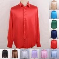 Wholesale Men's 30 Momme 100% Pure Silk Dress Shirts Business Shirts Ailisilk from china suppliers
