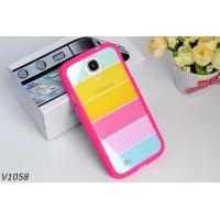 Wholesale Soft Silicone Protective Cover Case For Samsung Galaxy S4 i9500 Colorful Strips Case Rainbrow Case from china suppliers
