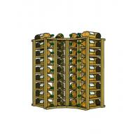 Curved Corner Pine Value Series Upper Wine Rack Manufactures