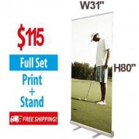 Buy cheap W31.5 Budget Retractable Banner Stand with Banner & Bag from wholesalers