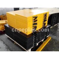Wholesale Anti slip UHMWPE crane outrigger pad, stabiliser pad , UHMW-PE plates from china suppliers