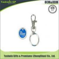 Buy cheap Promotional Cheap Custom Supermarket Custom Euro Trolley Coin Keyring from wholesalers