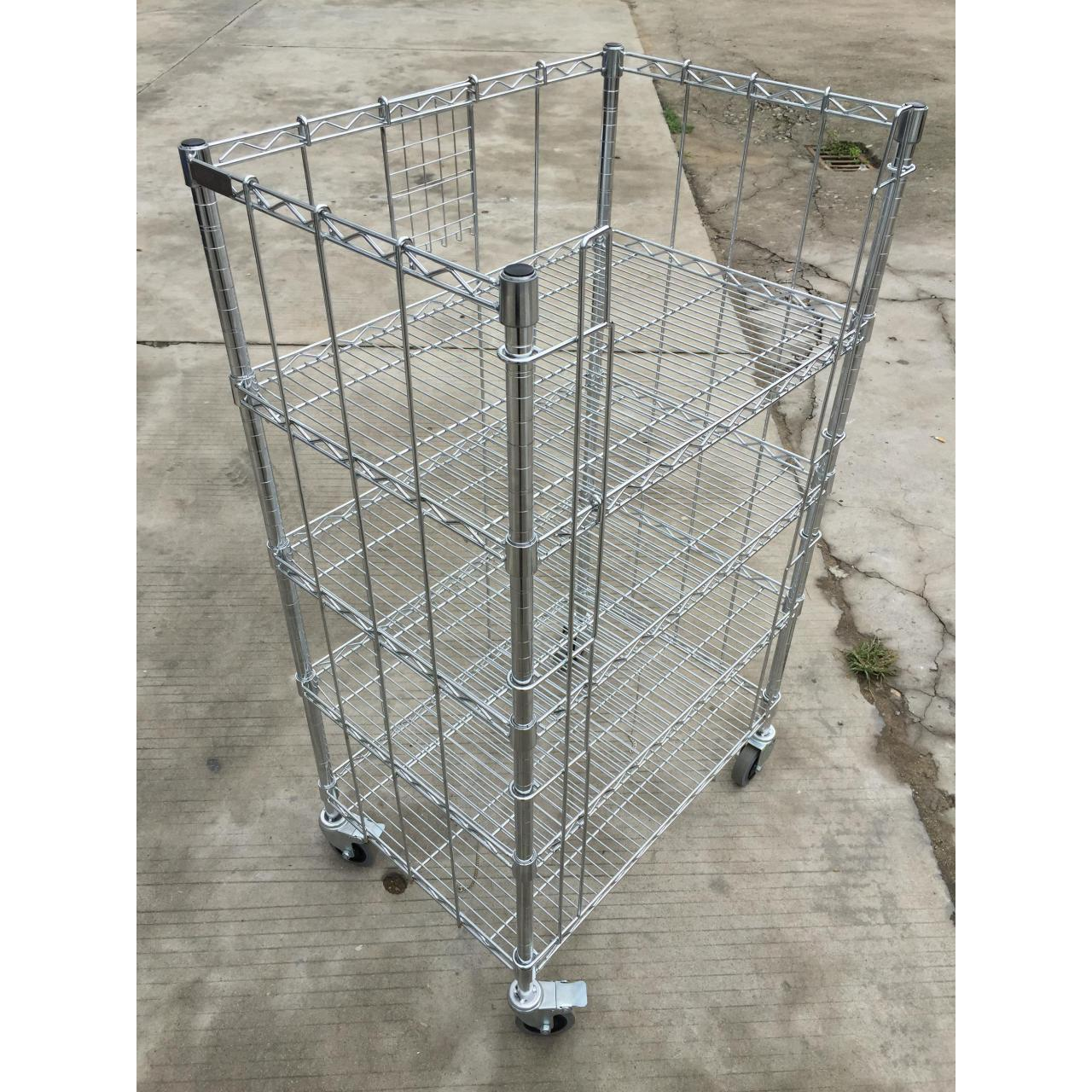 Buy cheap wire shelving trolley from wholesalers
