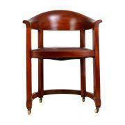 Buy cheap Arts and Crafts Solid Mahogany Desk Chair with Ebony Detail and Leather Upholstery 1910 from wholesalers