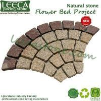 Buy cheap LEECA Amber color granite stone mat landscape paving stone from wholesalers