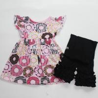 Buy cheap best selling kids clothes donuts girl boutique outfits 2016 fall baby clothing from wholesalers