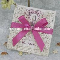 Wholesale Gifts & Crafts handmade & best selling wedding invitation card from china suppliers