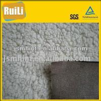 Buy cheap Clothing Lining Home Textile Sofa Suede Bonded With Sherpa Fabric from wholesalers