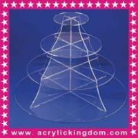 Buy cheap ACRYLICKINGDOM Material Plastic, 5mm clean acrylic cake stand from wholesalers