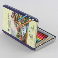 Buy cheap 12 colors watercolor pencil set with tin box from wholesalers