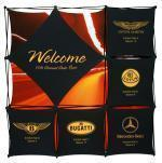 Buy cheap Trade Show Booth Sizes Xpressions 8' 3X3 Fabric Pop Up Display from wholesalers