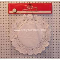 China 10inch round paper doily with header card 8 pcs on sale