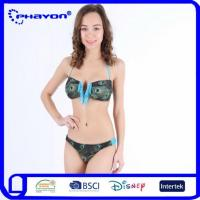 Buy cheap Fashion Digital Sublimation Hot Selling Floral Print Halter Neck Bandage Ladies Sexy Bikini Swimwear product