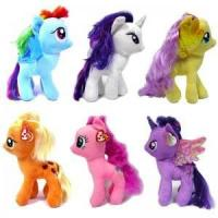 6PCS LARGE 25CM MY LITTLE PONY PINK KIDS BABY SOFT PLUSH TOY DOLL BEAR XMAS GIFT $50.95 Manufactures