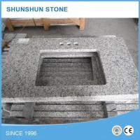 Chinese Tongan White G655 Natural Stone Granite Bathroom Vanity Top Manufactures