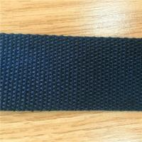 China Customized Woven Blue 1.25 Lightweight Cotton Webbing Fabric Belts Cotton for Handbag and Luggage on sale
