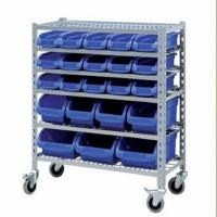 Buy cheap Warehouse storage rack Warehouse plastic mobile bin rack from wholesalers