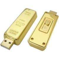 Buy cheap Gold Bar USB Flash Drive Gold Brick Pen Drive 64GB Memory Stick Capless Gold Bullion Flash Stick from wholesalers