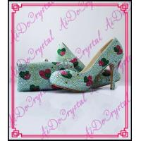 Aidocrystal Heart shape pattern crystal decorated new design shoe and bag set Manufactures