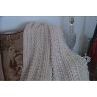 """Beautiful 53""""X76"""" Cream colored Blanket Manufactures"""