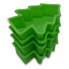 Quality CRAZY CHRISTMAS DEAL Silicone Christmas Baking Molds Cake Pans Tree Green, Set of 4, Perfect Holiday for sale