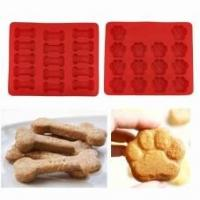 Buy cheap Puppy Paws & Bones Silicone Baking Molds-Pan-Ice Trays Set of 2 from wholesalers