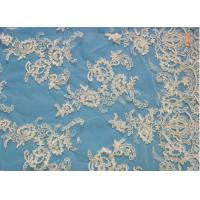 Buy cheap Bridal Lace Fabric White Bridal Lace Fabric By The Yard (W9034) from wholesalers
